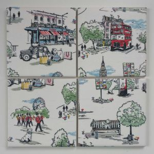 Ceramic Coasters in Cath Kidston Billie Goes To Town